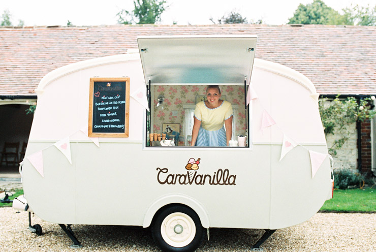 Olive the icecream van at Manor Barn Buriton