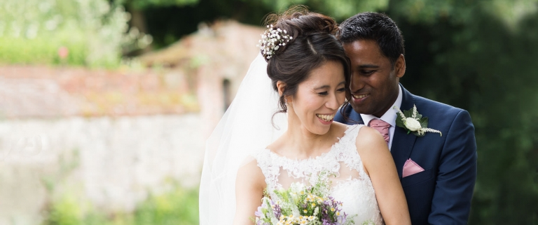 natural relaxed bride and groom image at winchester