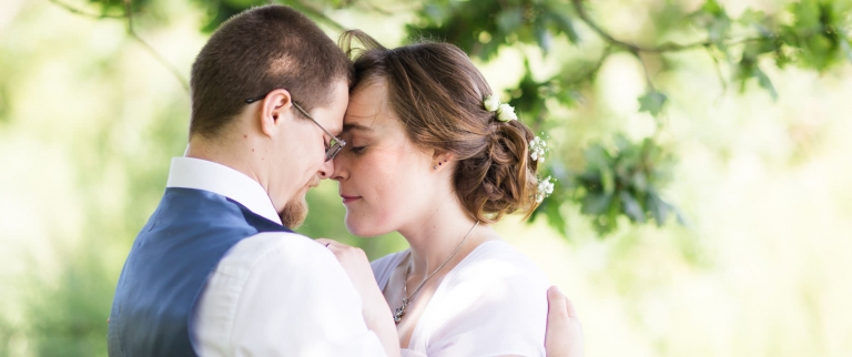 natural romantic photo of wedding couple at tournerbury estate