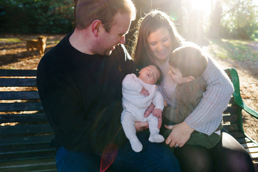 family in autumn light by jenny owens photography