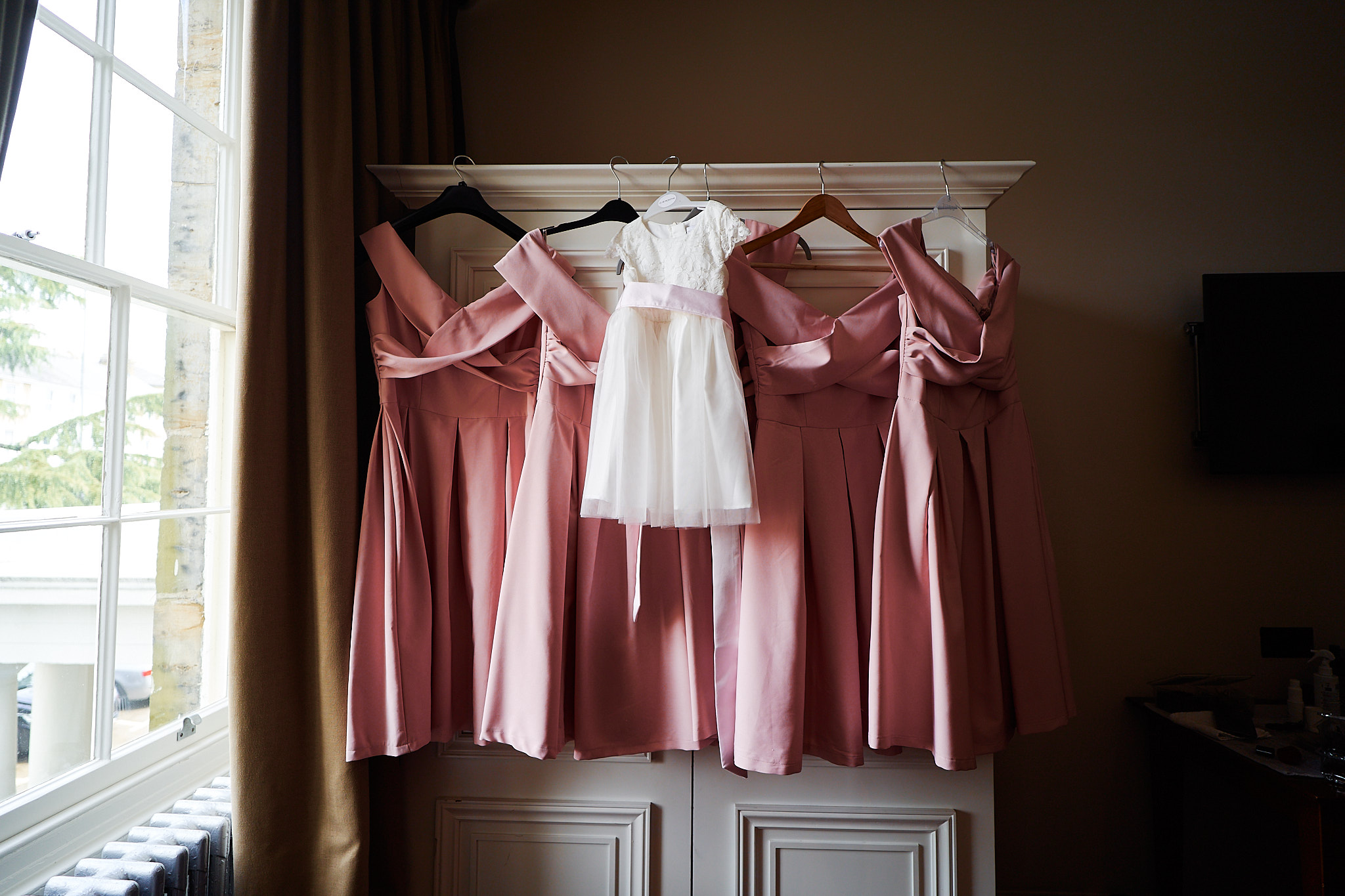 picture of pink bridesmaid dresses for summer wedding in Kent