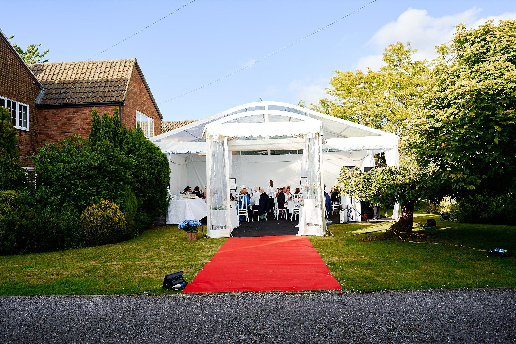 garden marquee for summer wedding