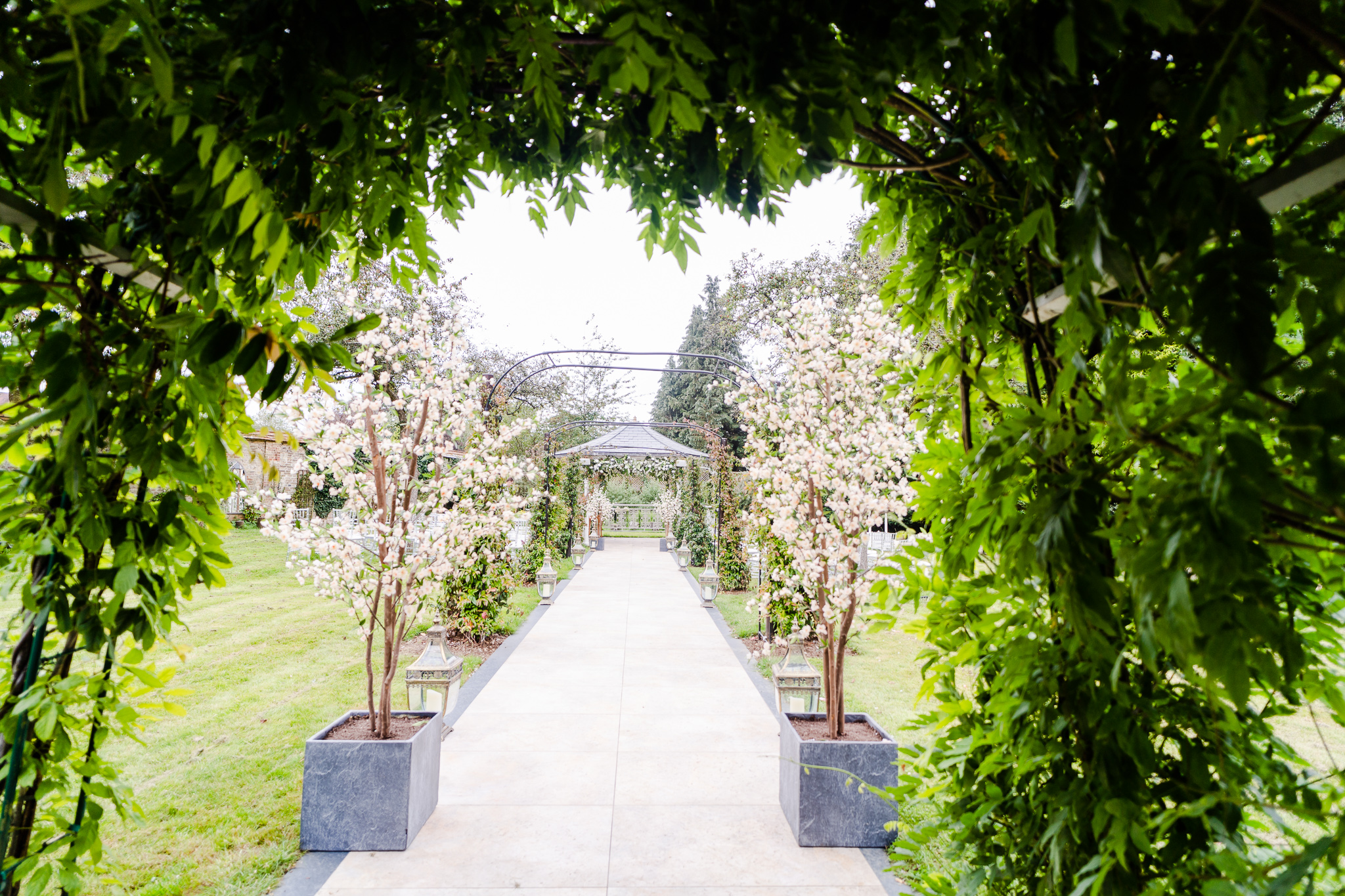 shot of outdoor ceremony space at guildford manor hotel