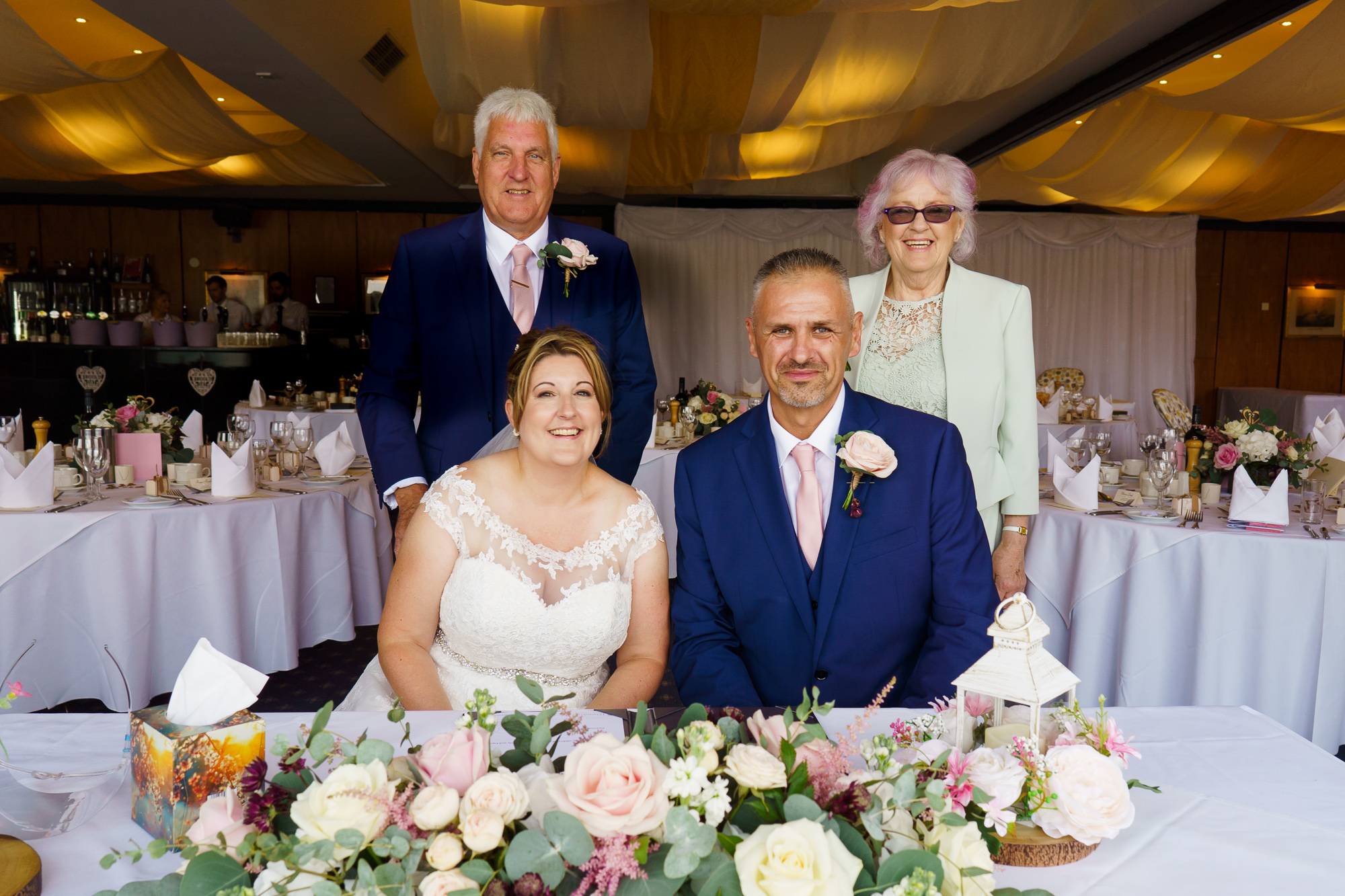 brdie and groom and their witnesses at royal southern yacht club