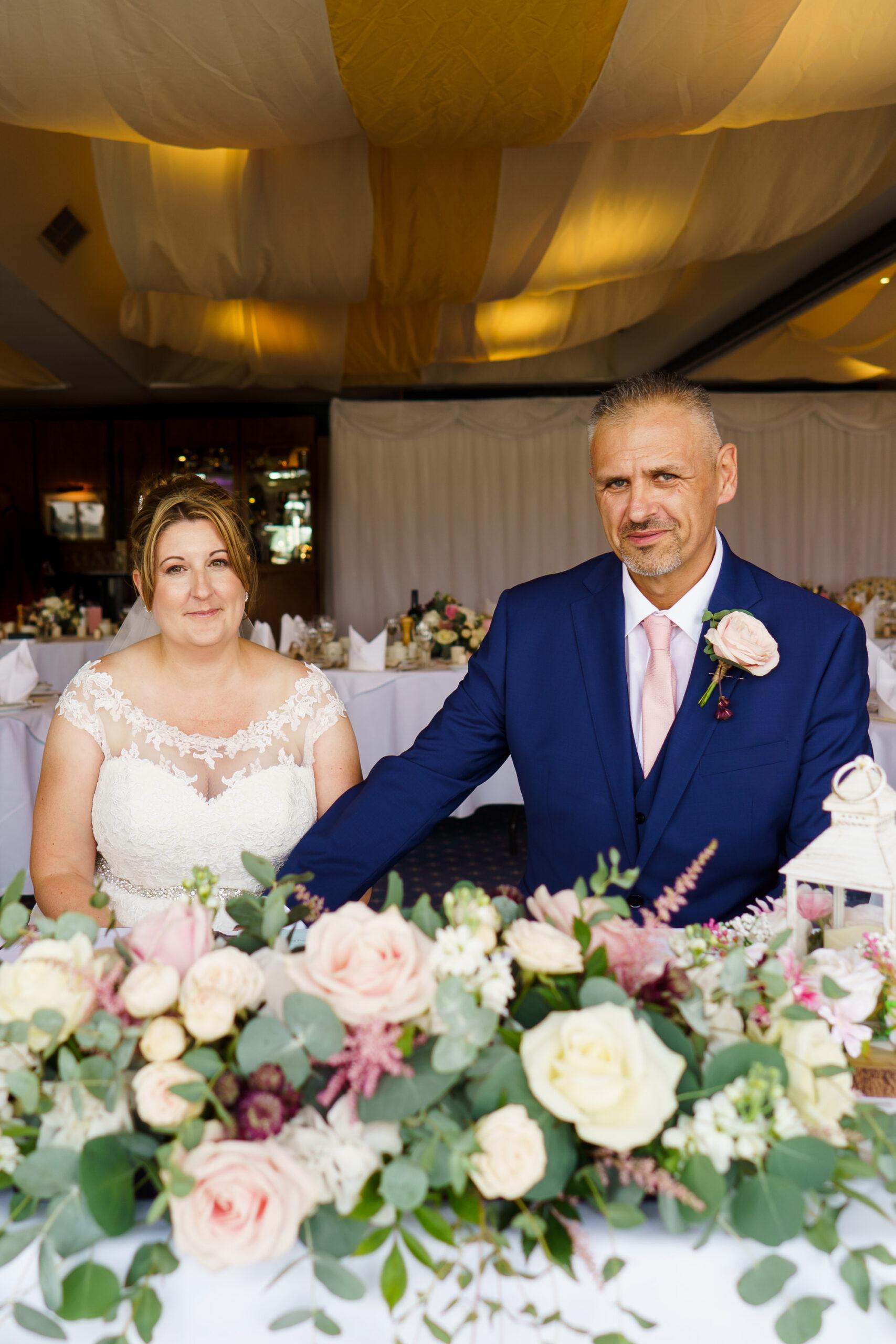 brdie and groom at royal southern yacht club