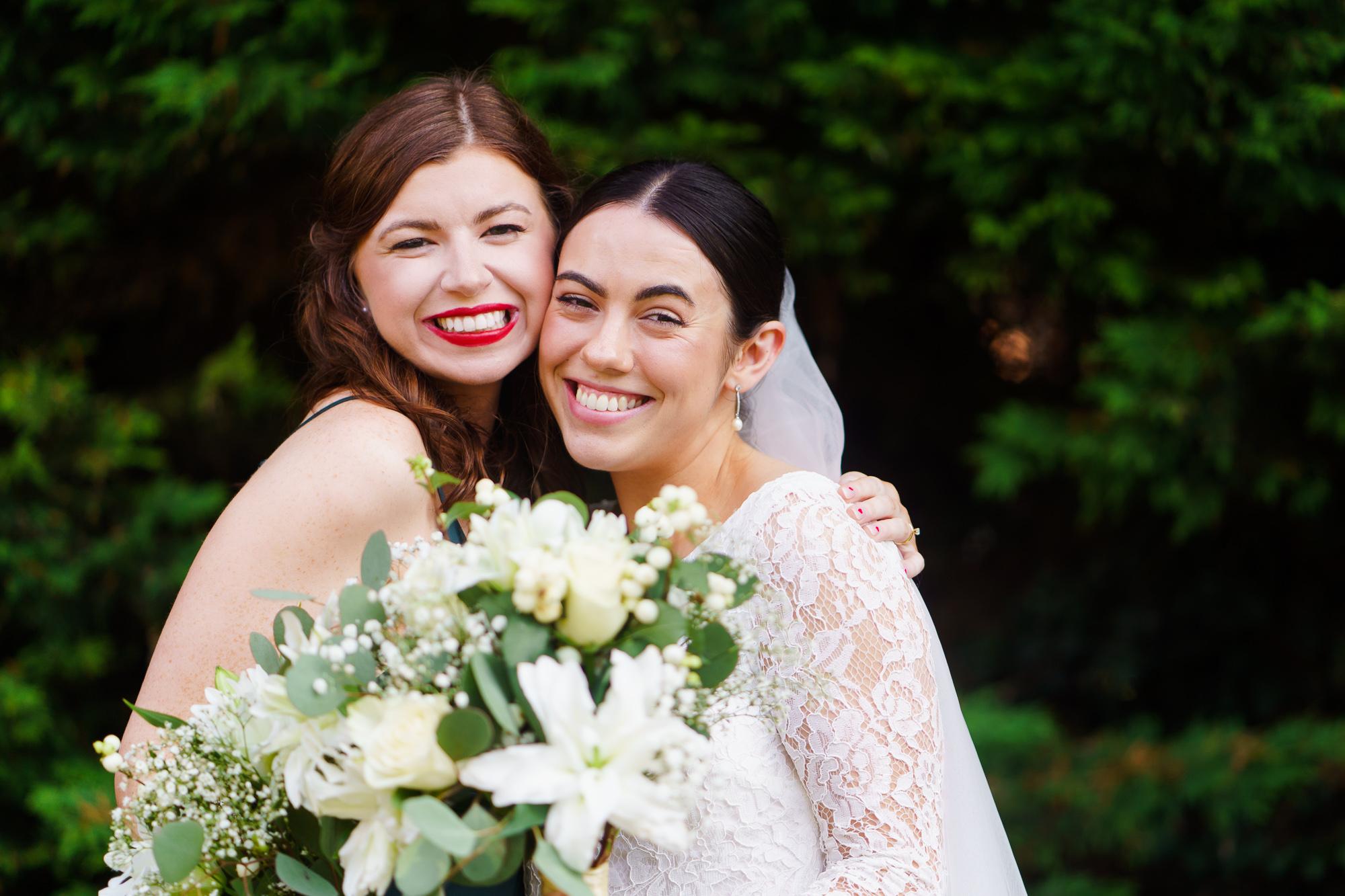 portrait bride and bridesmaid
